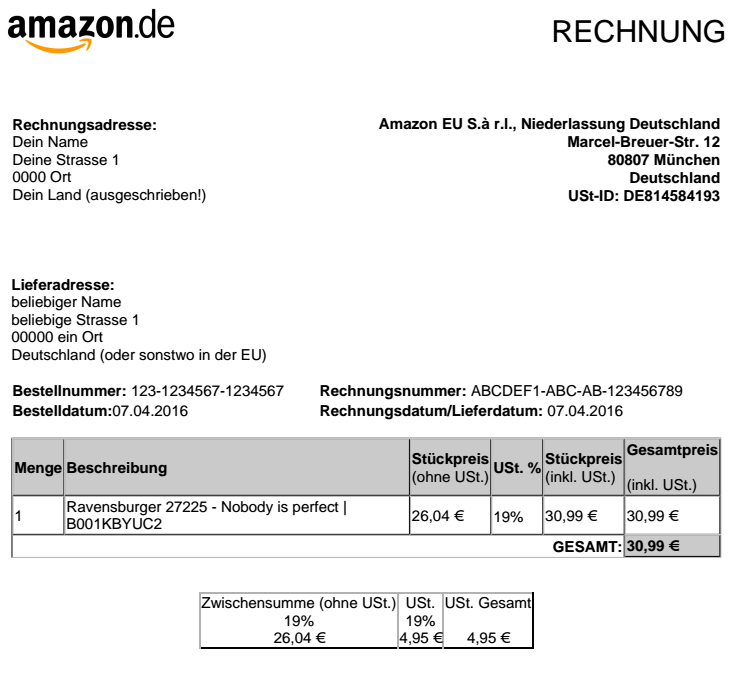 Amazon Abrechnung : factura amazon librestado ~ Themetempest.com Abrechnung